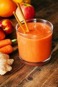 Orange Smoothie Ingwer Karotte